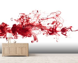 Red Ink In Water wall mural