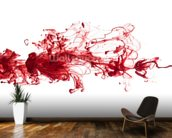Red Ink In Water wall mural kitchen preview