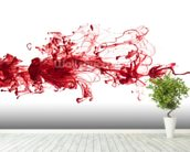 Red Ink In Water wall mural in-room view