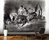 Mephistopheles and Faust riding in the Night, Illustration for Faust by Goethe, 1828 mural wallpaper kitchen preview