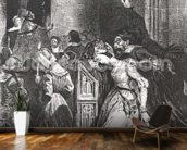 Marguerite in the Church with the Evil Spirits: illustration from Faust by Goethe, 1828 (litho) wallpaper mural kitchen preview
