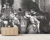 Marguerite in the Church with the Evil Spirits: illustration from Faust by Goethe, 1828 (litho) wallpaper mural living room preview