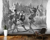 Duel between Faust and Valentine, from Goethes Faust, after 1828, (illustration), (b/w photo of lithograph) wall mural kitchen preview