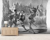 Duel between Faust and Valentine, from Goethes Faust, after 1828, (illustration), (b/w photo of lithograph) wall mural living room preview