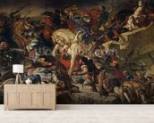 The Battle of Taillebourg, 21st July 1242, 1837 (oil on canvas) wall mural living room preview