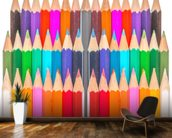 Rows of Coloured Pencils wall mural kitchen preview