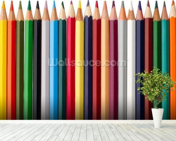 Pencil Soldiers wallpaper mural room setting