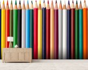 Pencil Soldiers wallpaper mural living room preview