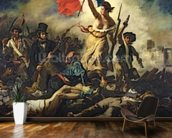 Liberty Leading the People, 28 July 1830 (oil on canvas) (for detail see 95120) wall mural kitchen preview