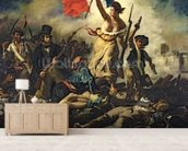 Liberty Leading the People, 28 July 1830 (oil on canvas) (for detail see 95120) wall mural living room preview