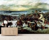 The Death of Charles the Bold (1433-77) at the Battle of Nancy, 5th January 1477, 1831 (oil on canvas) wallpaper mural living room preview