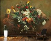Flowers (oil on canvas) mural wallpaper kitchen preview