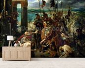 The Crusaders entry into Constantinople, 12th April 1204, 1840 (oil on canvas) wallpaper mural living room preview