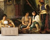 The Women of Algiers in their Apartment, 1834 (oil on canvas) mural wallpaper living room preview