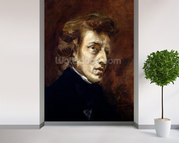 Frederic Chopin (1810-49) 1838 (oil on canvas) wall mural room setting