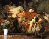 The Death of Sardanapalus, 1827 (oil on canvas) wallpaper mural kitchen preview