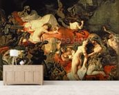 The Death of Sardanapalus, 1827 (oil on canvas) wallpaper mural living room preview