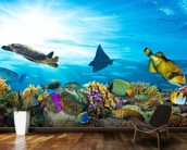 Sea Life Coral Reef Panorama wallpaper mural kitchen preview