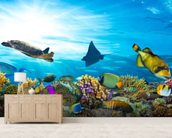 Sea Life Coral Reef Panorama wallpaper mural living room preview