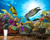 Coral Reef Diversity mural wallpaper kitchen preview
