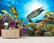 Coral Reef Diversity mural wallpaper living room preview
