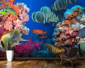 Coral Reef Life wall mural kitchen preview