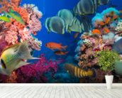 Coral Reef Life wall mural in-room view