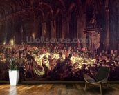 The Assassination of the Bishop of Liege, 1829 (oil on canvas) wall mural kitchen preview