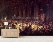 The Assassination of the Bishop of Liege, 1829 (oil on canvas) wall mural living room preview