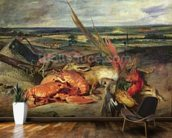 Still Life with Lobsters, 1826-27 (oil on canvas) wallpaper mural kitchen preview