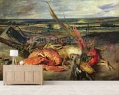 Still Life with Lobsters, 1826-27 (oil on canvas) wallpaper mural living room preview