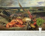 Still Life with Lobsters, 1826-27 (oil on canvas) wallpaper mural in-room view