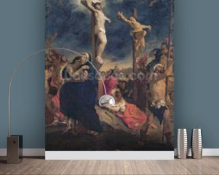 Christ on the Cross, 1835 (oil on canvas) mural wallpaper