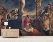 Christ on the Cross, 1835 (oil on canvas) mural wallpaper living room preview