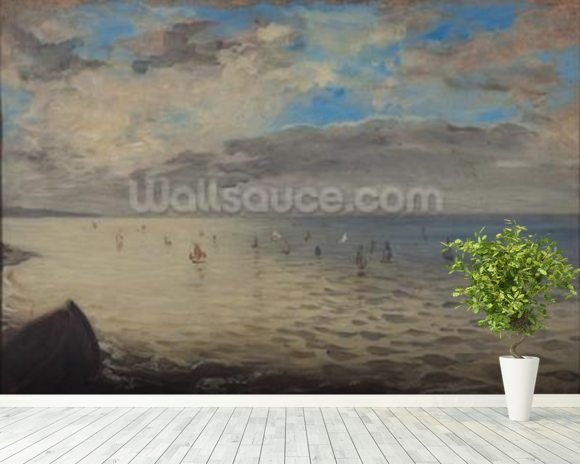 Sea Viewed from the Heights of Dieppe (oil on canvas) wall mural room setting