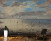 Sea Viewed from the Heights of Dieppe (oil on canvas) wall mural kitchen preview