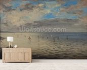 Sea Viewed from the Heights of Dieppe (oil on canvas) wall mural living room preview