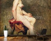 Seated Nude, Mademoiselle Rose (oil on canvas) wallpaper mural kitchen preview
