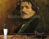 Self Portrait, c.1837 (oil on canvas) mural wallpaper kitchen preview