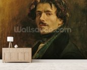 Self Portrait, c.1837 (oil on canvas) mural wallpaper living room preview