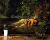 The Death of Ophelia, 1844 (oil on canvas) wall mural kitchen preview