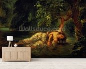 The Death of Ophelia, 1844 (oil on canvas) wall mural living room preview