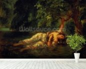 The Death of Ophelia, 1844 (oil on canvas) wall mural in-room view
