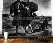 Faust and Wagner, Illustration for Faust by Goethe, 1828 (litho) (b/w photo) wallpaper mural kitchen preview