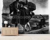 Faust and Wagner, Illustration for Faust by Goethe, 1828 (litho) (b/w photo) wallpaper mural living room preview