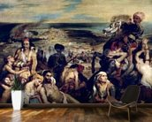 Scenes from the Massacre of Chios, 1822 (oil on canvas) wall mural kitchen preview