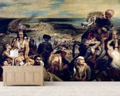 Scenes from the Massacre of Chios, 1822 (oil on canvas) wall mural living room preview