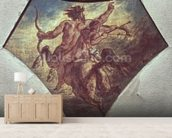 The Education of Achilles (replica of the first sketch made for one of the four pendentives in the Coupole de la Poesie in the Chamber of Deputies, c.1848 (oil on canvas) (see also 75745) wallpaper mural living room preview
