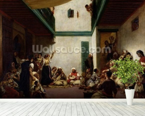 A Jewish wedding in Morocco, 1841 (oil on canvas) wall mural room setting