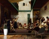 A Jewish wedding in Morocco, 1841 (oil on canvas) wall mural kitchen preview